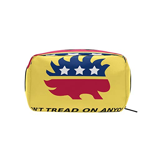 - Dont Tread Me Gadsden Flag Makeup Bags Multi Compartment Pouch Storage Cosmetic Bag