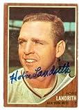 Autograph Warehouse 57613 Hobie Landrith Autographed Baseball Card New York Mets 1962 Topps No .279
