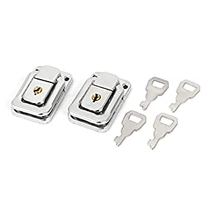 Uxcell a15121700ux0382 Toggle Latch Chest Boxes Handbag Metal Clasp LOCK Toggle Latch 2Pcs W Keys