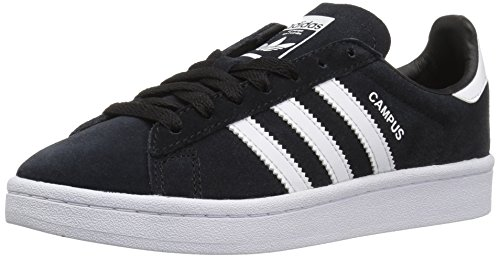 adidas Originals Kids' Campus J Sneaker,Black/White/White,3.5 Medium US Big Kid