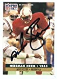 Mike Rozier autographed football card (Nebraska Cornhuskers) 1991 Pro Set #43 - Autographed College Cards