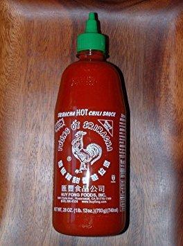 (Sriracha HOT Chili Sauce (3 Giant 28 oz)