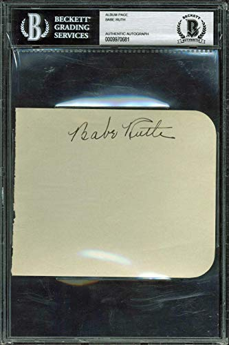 Yankees Babe Ruth Signed 4.25x5.25 Album Page Autographed for sale  Delivered anywhere in USA