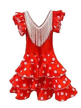 DISBACANAL Vestido andaluza para niña - Único, 12 Meses ...