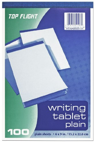 - Top Flight Writing Tablet, Unruled, White, 100 Sheets (4701024)