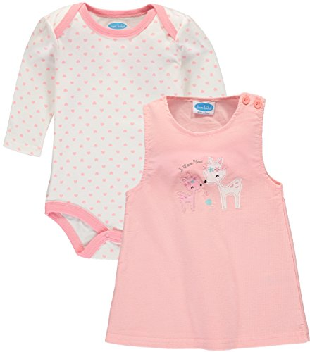 Bon Bebe Baby Girls' Bodysuit Jumper Set (6-9 Months, Deer Love) ()