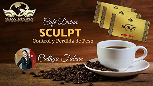 Lose Weight with Cafe Divina Sculpt Premium Coffee,Sculpt Pairs Ganoderma lucidium and Garcinia Cambogia to Help You Speed up Your Body's Fat-Burning processes,Control Appetite, 30 Individual Sachets by vida divina cafe sculpt (Image #1)