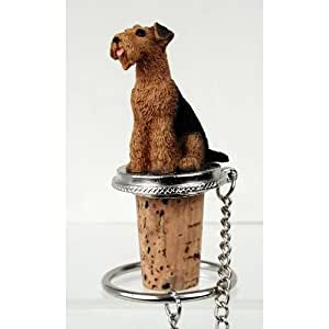 Conversation Concepts Airedale Dog Wine Bottle Stopper Dtb38