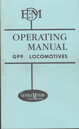Diesel Locomotive Operating Manual No. 2318 for Model GP9