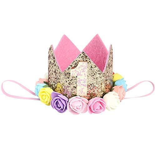Koolsants Children Girls Sequins Number Crown Rose Elastic