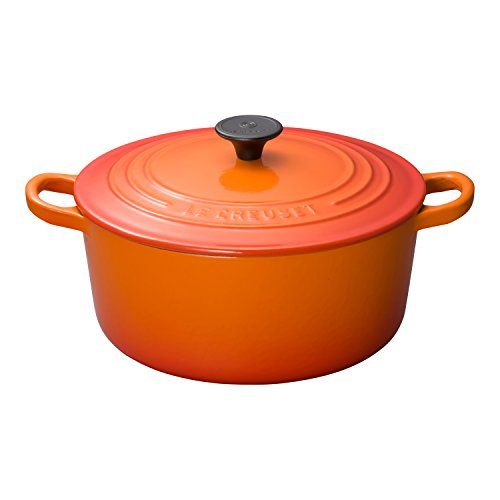 Le Creuset Enameled Cast-Iron 3-1/2-Quart Round French Oven, Flame