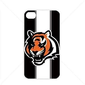 NFL American football Cincinnati Bengals Apple iPhone 4 / 4s pc hard hard Black or White case (White)