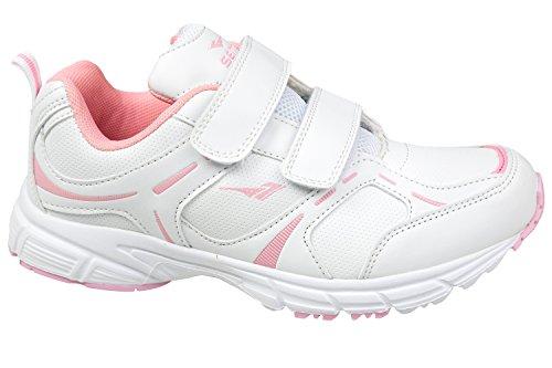 Gibra Zapatillas de Material Sintético Para Mujer, Color Blanco, Talla 38
