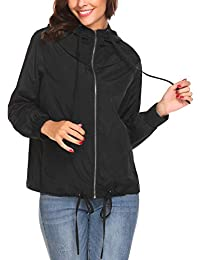 Women's Waterproof Raincoat Outdoor Hooded Rain Jacket...