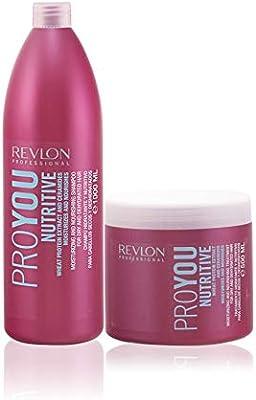 Revlon Professional ProYou Nutritive Pack Champu 1000ml + Mascarilla 500ml: Amazon.es: Belleza