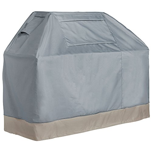 VonHaus BBQ Grill Cover – 'The Storm Collection' Premium Heavy Duty Waterproof Outdoor Barbecue Grill Protection – Slate Grey with Beige Trim L60 x W26 x H50