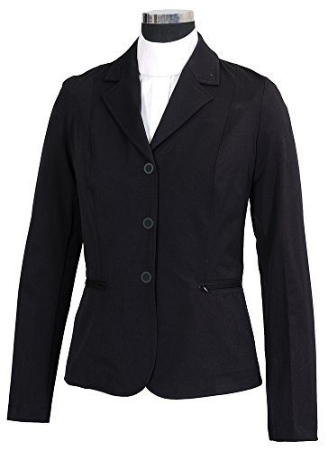 Equine Couture Women's Triumph Show Coat, Black, Medium (Shirt Stretch Riding)