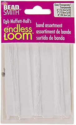 Pack of 50 Pieces 7 Deb Moffett-Halls Endless Loom Project Bands Clear