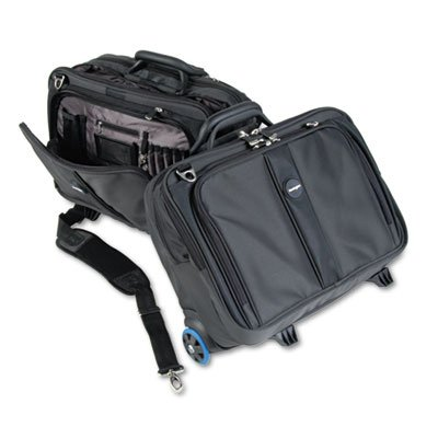 Contour Roller Laptop Case, Nylon, 17-1/2 x 9-1/2 x 13, Black by KENSINGTON (Catalog Category: Computer/Supplies & Data Storage / Notebook/PDA & Mobile Computing Accessories) by Kensington®