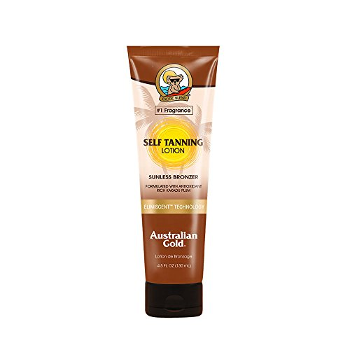 Australian Gold Self Tanning Lotion, Sunless Instant Bronze, Fresh Fragrance, Reef Safe Tanner, Cruelty Free, 4.5 Ounce