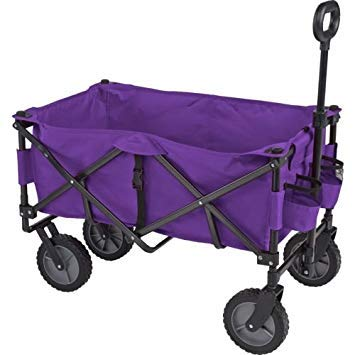 Academy Sports Outdoors Folding Sport Wagon with Removable Bed Rolls well on grass gravel and even mud (Purple) by