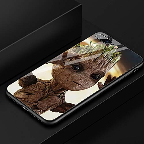 Fitted Cases - FinderCase Groot Glass Hard Back Cover Case for iPhone 6 Tempered Glass Case for iPhone 6 6S 7 8 Plus X XR XS MAX - by Aquaman Store - 1 PCs