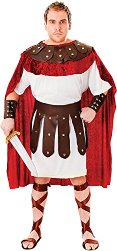 Marc Anthony Roman Costume (Adult Roman Soldier Gladiator Marc Anthony Fancy Dress Party Centurion Costume)