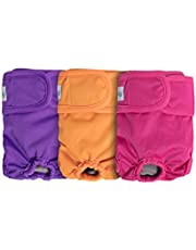 Teamoy Washable Female Dog Diapers, Reusable Doggie Diaper Wraps for Female Dogs, Super-Absorbent and Comfortable