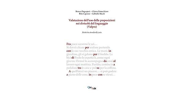 Valutazione delluso delle preposizioni nei disturbi del ...