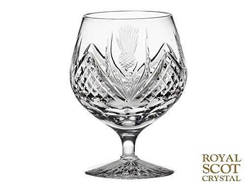 Crystal Thistle - Royal Scot Crystal Scottish Thistle Decorated Single Brandy Glass 40cl 12oz
