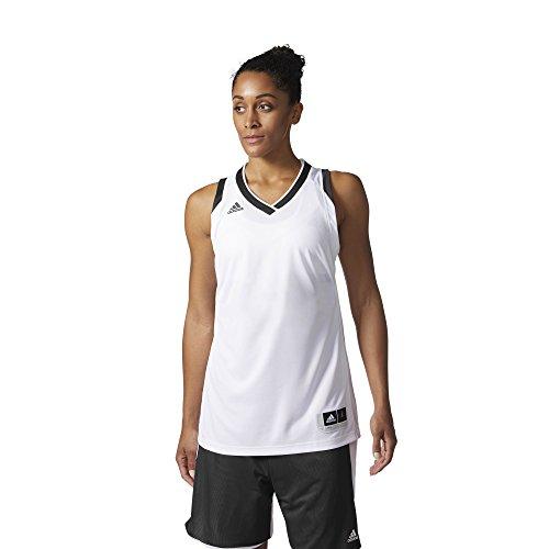 adidas W Crazy Expl Jr Camiseta Baloncesto, Mujer blanco  /  negro