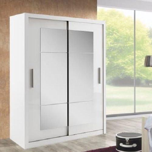 Chambre moderne-idée porte coulissante d\'armoire Blanc Vendu ...