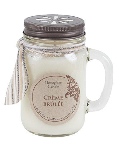 16 oz. - Creme Brulee - LG Mason Jar Mug - 100% Soy Candle