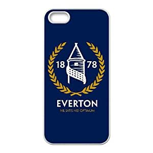 Printed Cover Protector iPhone 5, 5S Cell Phone Case White Everton Sxdib Unique Design Cases