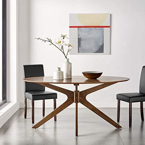 Modway Crossroads 63 Oval Wood Dining Table