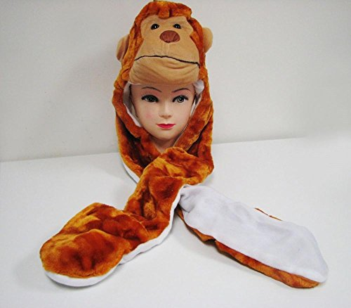 Monkey_(US Seller)Hat Scarf Mittens Animal Cap Costume Long Paws (Sexy In Animals)