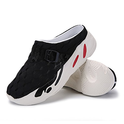 Slippers Breathable BARKOR Mens Black1 Garden Summer Water Unisex Aqua Light Shoes Slip Clogs Non Outdoor Comfort Ultra Shoes Womens BqP4fz1B