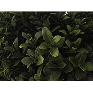Artificial UV Rated Outdoor 5' Double Spiral Boxwood Topiary Tree Bundled with Rock Planter Cover, by Silk Tree Warehouse 2