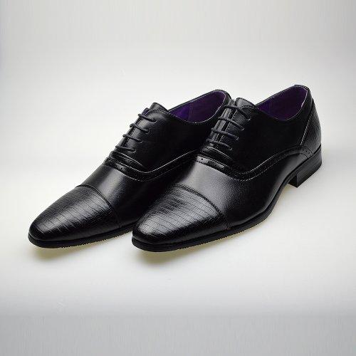 ClassyDude , Chaussures de ville à lacets pour homme Noir Nero