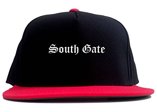 Kings Of NY South Gate City California 2 Tone Snapback Hat Red (South Gate City)
