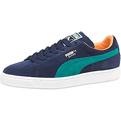 c07975cb9 Puma Womens Suede Classic Trainers Blue/Blue - Navy/Teal/White/Yellow