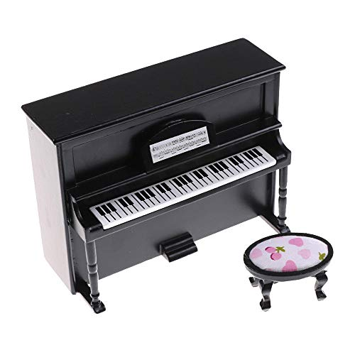 Onegirl 1/12 Dollhouse Accessories and Furniture, Wooden Black