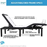 Split King Adjustable Bed Base with Wireless Remote Head and Foot Incline and No Tools Required Assembly Includes Both Left and Right Sides