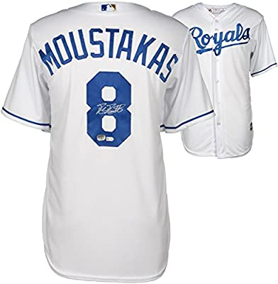 Mike Moustakas Kansas City Royals Autographed White Replica Jersey - Fanatics Authentic Certified - Autographed MLB Jerseys