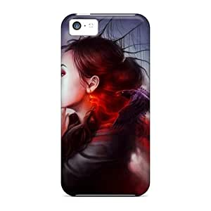 DpW1799hGeJ Anti-scratch Case Cover SPetry Protective Girls Redheads Fantasy Artwork Case For Iphone 5c