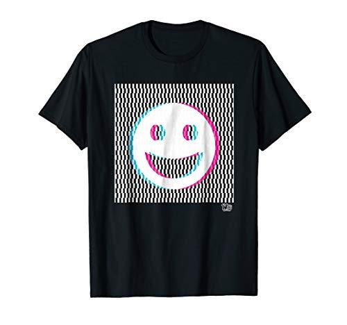 Happy face 3d design optical illusion (Happy Face T-shirt)