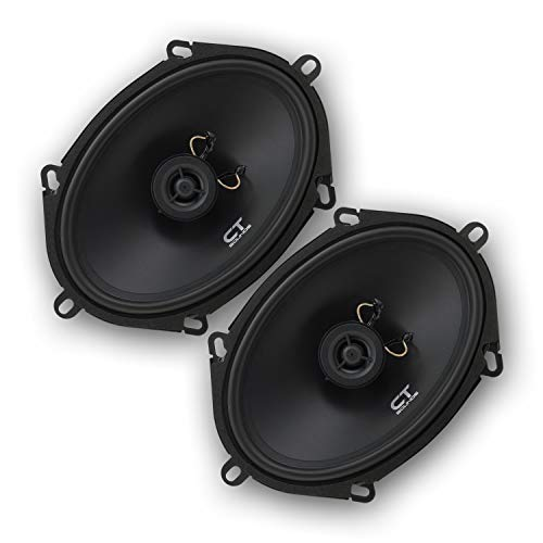 CT Sounds Bio 5x7 Inch 2 Way Silk Dome Coaxial Car Speakers (Pair)