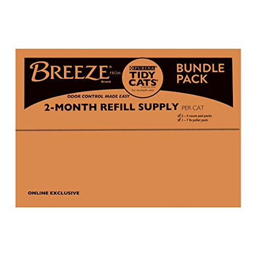 Purina Tidy Cats BREEZE With Ammonia Blocker Pads & Pellets Bundle Pack - (3) 7.91 lb. Pouches
