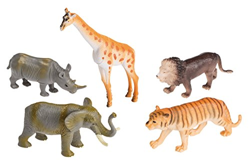 Idena 4320409 5 Zoo Animals in a Bag, 10 cm