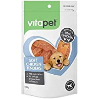 Vita Pet Soft Chicken Tenders Dog Treats, for Adult Dogs and Puppies, 100g